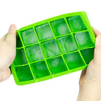Large ice tool Tray Pudding Jelly Maker Mold Square Mould Silicone kitchen best