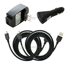 2 USB Cable+Car+Wall Charger for Garmin Nuvi 255 270 1350 1390T 1490T 100+SOLD