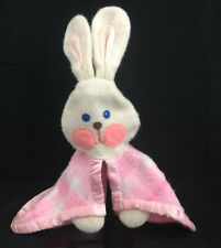 Vintage 1979 Fisher Price Pink Plaid Bunny Lovey Security Flannel Blanket 404