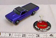 MATTEL HOT WHEELS REDLINE CUSTOM FLEETSIDE TRUCK 1967 WITH BADGE SHARP!