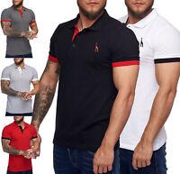 Poloshirt Polohemd T-Shirt Basic Kurzarm Einfarbig Slim Fit Polo Shirt Herren
