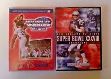 LOT OF 2 DVDs Boston Red Sox World Series 2004 Patriots Super Bowl XXVIII 04
