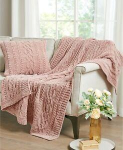 "Pink Martha Stewart Collection Chenille Woven 20"" x 20"" Decorative Pillow Sham"