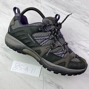 Merrell Womens Siren Sport Hiking Shoes (Size 8.5) Grey Purple Vibram J1633 A-11