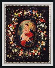Upper Volta 470 MNH Art, Virgin & Child, Rubens, Flowers