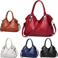 Women Faux Leather Shoulder Bag Tote Purse Handbags Messenger Crossbody Satchel