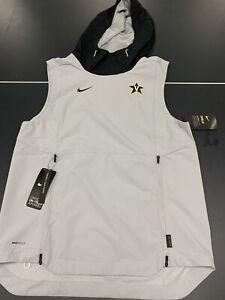 Vanderbilt SLEEVELESS PULLOVER HOODIE Nike Shield Adult Small On Field Apparel