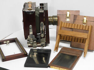 Wet Plate Collodion Gundlach 4x5 Large Format Camera Outfit w/ Darlot