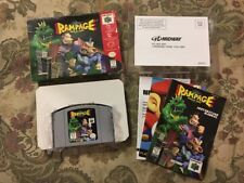 Rampage World Tour (Nintendo 64, 1997) Complete In Box Authentic Nice Shape!!