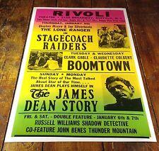 1956 RIVOLI THEATRE LONE RANGER CLARK GABLE MOVIE THEATER NOW SHOWING POSTER