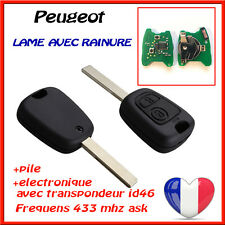 CLE VIERGE PEUGEOT 307 307 SW Phase 1 2001-2005 ELECTRONIQUE A PROGRAMMER teste