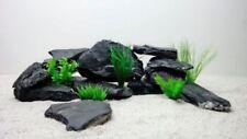 Décorations noirs en pierre pour aquarium, bassin et mare