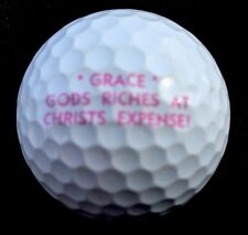 GRACE  Gods Riches At Christs Expense Religious logo golf ball - Titleist ProV1