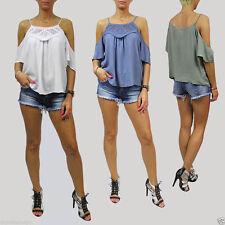 Markenlose Lockre Sitzende 3/4 Arme Damenblusen,-Tops & -Shirts für Freizeit