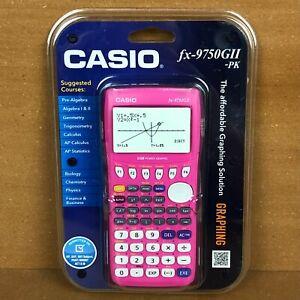 NEW Casio FX-9750GII Graphing Calculator Pink School Calc Trig Algebra Sealed