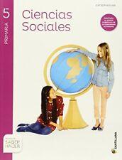 Ciencias Sociales Extremadura 5º Ep Santillana Saber Hacer 9788468086750