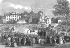 QUORN. Sale of the Earl Of Stamford's hunting stud, antique print, 1863
