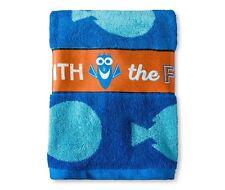 Finding Dory Bath Towel Blue & light blue & Orange  Disney Go with the flow
