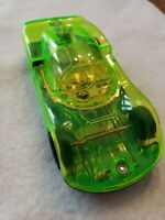 Vintage Tin Litho Toy Race Car Friction Clear Green Plastic See Through Japan