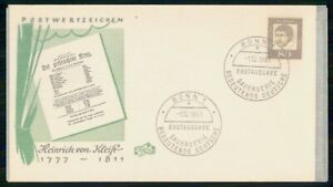 Mayfairstamps GERMANY FDC 1961 COVER HEINRICH VON KLEIST wwm45865