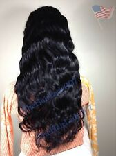 "24"" Virgin Body Wavy FULL LACE WIG, Silk top100% Human Hair"