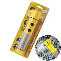 Auto Car LED Torch Flashlight Emergency Safety Hammer Belt Cutter Escape CRIT