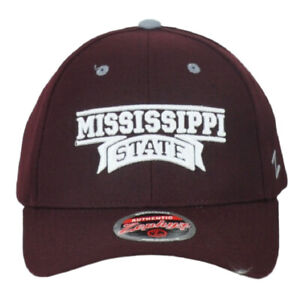 NCAA Zephyr Mississippi State Bulldogs Burgundy Adjustable Curved Bill Hat Cap