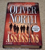 OLIVER NORTH  THE ASSASSINS Signed Hardcover Book 1st Printing