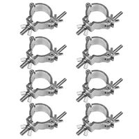 O Clamp Lighting Truss DJ Light Clamps 2in 220 LBs for 1.88-2 Inch Pipe 8 Pack
