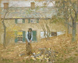 Childe Hassam Woodchopper Giclee Art Paper Print Paintings Poster Reproduction