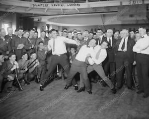 "Houdini & Dempsey Do Boxing Moves 1900s 8"" - 10"" B&W Photo Reprint"