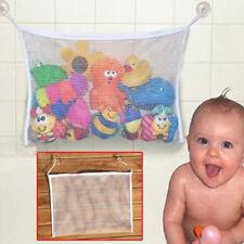 Hot Baby Kid Bath Toy Tidy Bag Net Mesh Storage Suction Bathroom Stuff Organiser