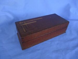 vintage antique art deco  box  cigar box  trinket  etc silky oak