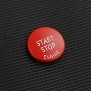Start Stop Engine Switch Button Cover RED Cap For BMW 3 Series E89 E90 X1 X3 X5