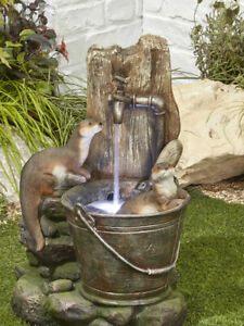 Playful Otters Water Feature with LED Lights by Kelkay