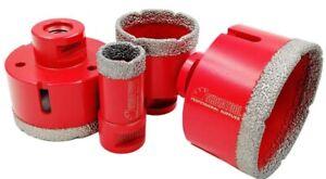 SHDIATOOL Dry Diamond Drill Core Bits 4pcs / Set Diameter 25/50/65/75mm.RRP £95