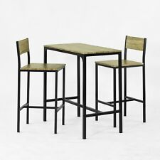 SoBuy® Ensemble table de bar+2 chaises,Table haute cuisine, Lot de 1+2, OGT03 FR