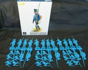 HAT#9317 Napoleonic PRUSSIAN Inf. (Marching) Toy Soldiers,(54MM) 18 figures