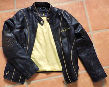 Baby Phat Kimora  Lee Simmons ladies biker style fitted  leather jacket size M