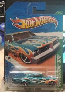 Nice 2010 Hot Wheels Treasure Hunt '62 Pontiac GTO diecast muscle car toy