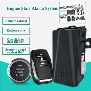 12V Car Keyless Entry System Engine Start Alarm System Remote One-button Start