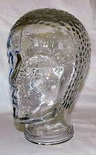 STUNNING LARGE BATHING CAP BEAUTY ART DECO GLASS DISPLAY MANNEQUIN HEAD FIGURINE