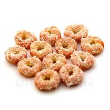 12 Miniatura Para Casa De Muñecas Twisted Anillo Donuts