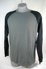 New Mens Small VOLCOM Colorblock Raglan Gray Black Thermal Long Sleeve Shirt $35