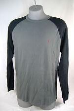 New Mens Small VOLCOM Colorblock Raglan Gray Black Thermal Long Sleeve Shirt $35