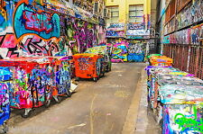 Hosier Lane Melbourne   GRAFFITI STREET PRINT  ART PAINTING 900mm