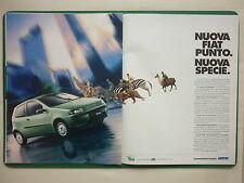 12/1999 PUBLICITE VOITURE NUOVA FIAT PUNTO ZEBRE GIRAGE ORIGINAL ITALIAN AD