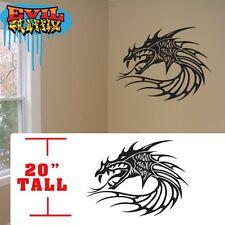 Dragon wall stickers,Dragons Head Martial Arts decal symbol, dragon sticker