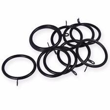 20x LARGE BLACK CURTAIN ROD EYELET RINGS 50mm / 60mm Pole Drapes Fixed Eye