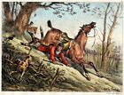 Antique Print-HUNTING-ACCIDENT-HORSE-DOGS-FENCE-Carle Vernet-Delpech-1820